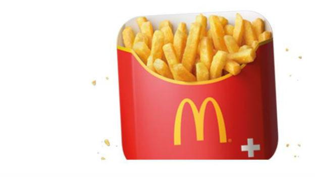 Fröhlicher Tempel des Fast Food: McDonald's.