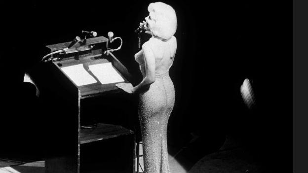 Ihr letzter grosser Auftritt:Monroe gratuliert Kennedy,1962.