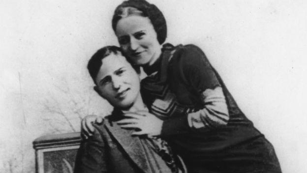 Legendäres Gangsterpaar: Bonnie and Clyde.