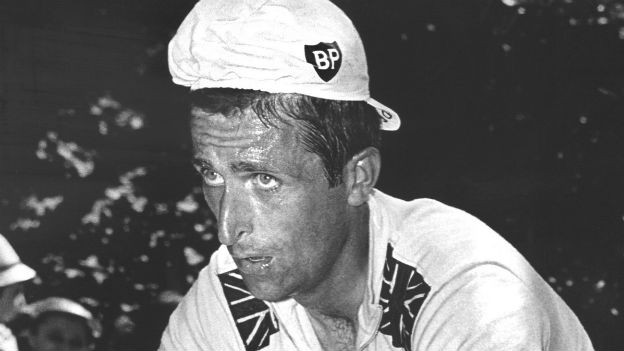 Tod durch Drogen:Radrennfahrer Tom Simpson,1937-1967.