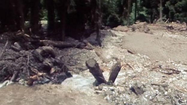 Hier stand noch eben ein Zeltlager: Donat Ems GR, 1981.
