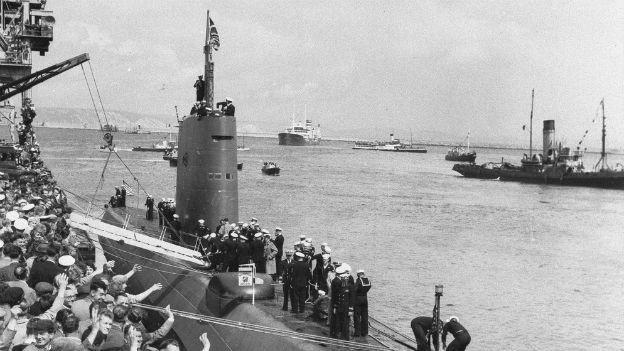 Nordpol, untendurch: Unterseeboot «USS Nautilus».