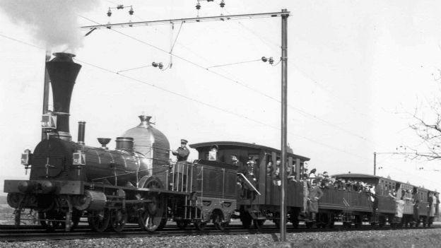 Erste Eisenbahn der Schweiz: Die Spanisch-Brötli-Bahn.