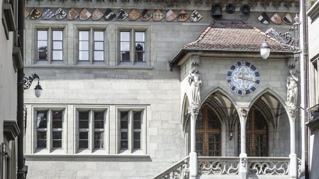 Das Bild zeigt das Berner Rathaus.