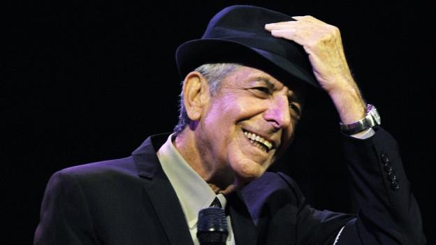 Das Bild zeigt den weltbekannten Musiker Leonard Norman Cohen.