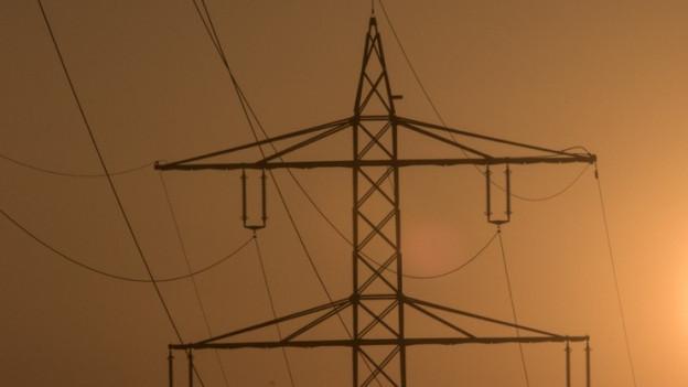 Das Bild zeigt ein Strommast.
