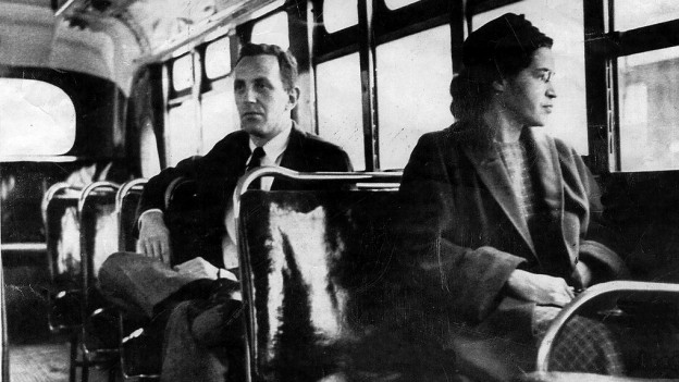 Rosa Parks weigerte sich für einen Weissen von ihrem Sitz aufzustehen.