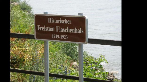 Einmalig in Deutschland: Der Freistaat Flaschenhals.