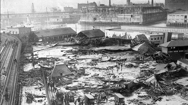 Boston, unter der Flut von Zuckersirup: 15.Januar 1919.