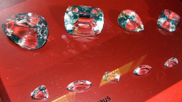 Der Grösste,strahlend in Einzelteilen:Rohdiamant Cullinan