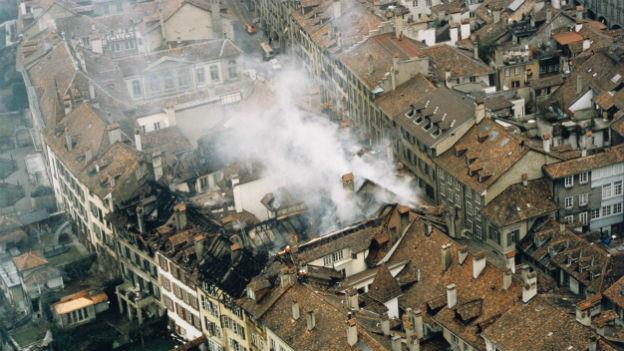 Grossbrand im UNESCO-Weltkulturerbe: Bern, 1997.
