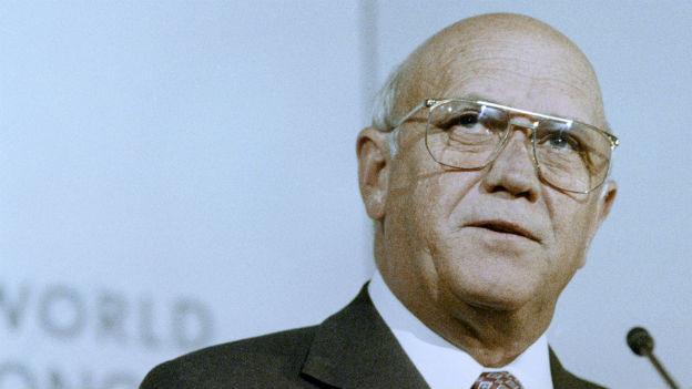Beginn der Wende in Südafrika: Staatspräsident de Klerk.