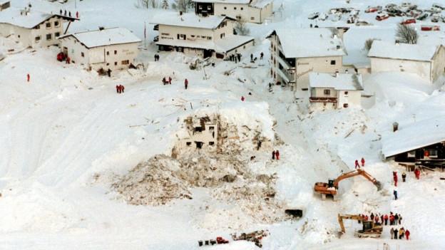 So sah es in Galtür am 25. Februar 1999 aus.