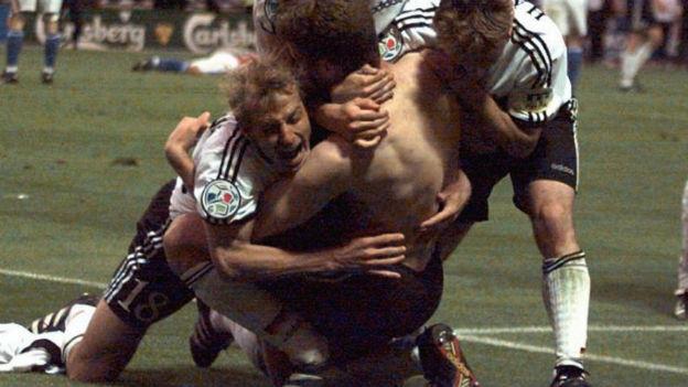 Sieg! Oliver Bierhoffs «Golden Goal» an der EM 1996.