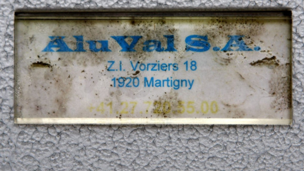 Das Ziel des Anschlags: Die Aluval-Fabrik