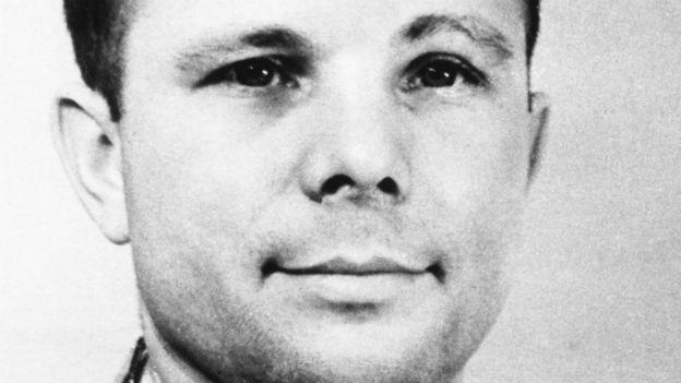 Erster Mensch im Weltraum: Juri Alexejewitsch Gagarin.