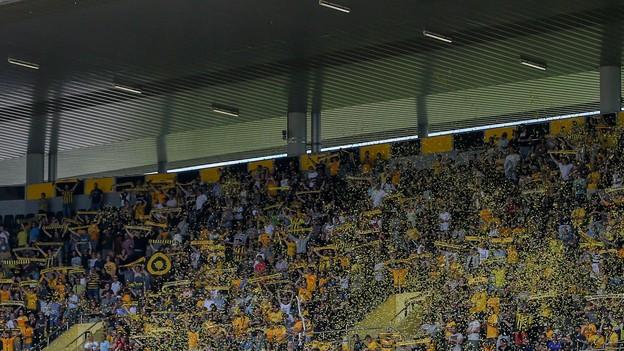Zuschauertribüne im Stade de Suisse