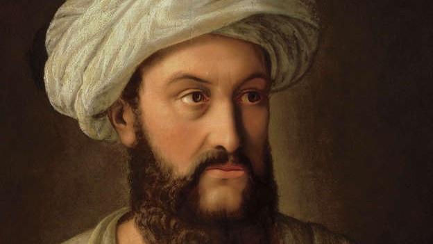 Jean Louis Burckhardt aka Scheich Ibrahim ibn Abdallah, gemalt 1930 von Sebastian Gutzwiller