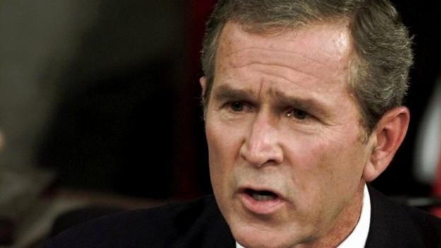 George W. Bush spricht am 20. September 2001 zum US-Kongress