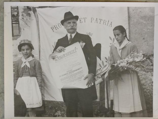 Ernest Guglielminetti wird Ehrenbürger von Brig-Glis