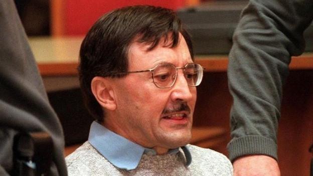 Attentäter Franz Fuchs während des Prozesses.