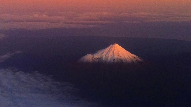 Der Vulkan Taranaki auf der Nordinsel Neuseelands