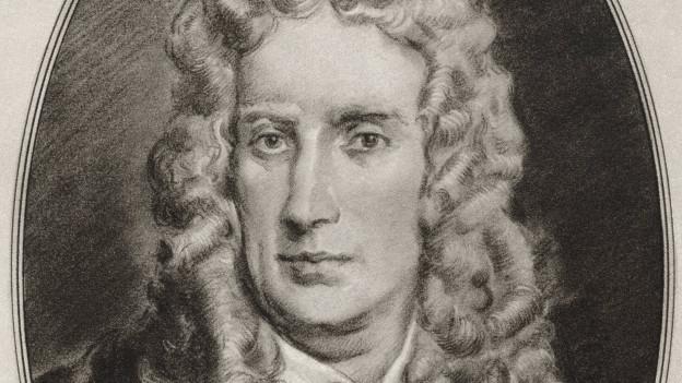 Der Mathematiker Isaac Newton auf einer Illustration des amerikanischen Künstlers Gordon Ross (1873-1946),
