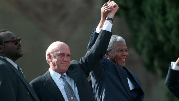 Der lerste Schwarze und der letzte weisse Präsident Südafrikas