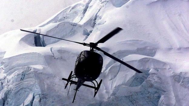 Rekordhöhe: Helikopter am Mount Everest