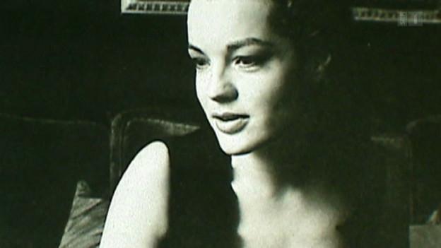 Die deutsche Schauspielerin Romy Schneider