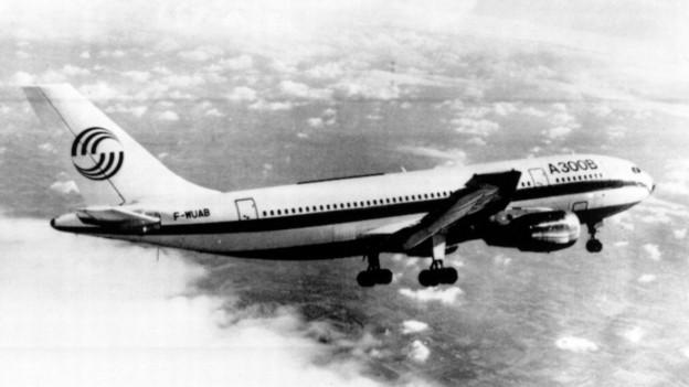 Ein Air France Airbus, ähnlich wie jener, der am 27.6.1976 entführt wurde