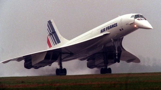 Eine Concorde der «Air France» hebt ab