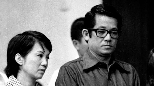 Benigno Aquino und seine Frau und spätere Präsidentin Corazon 1972