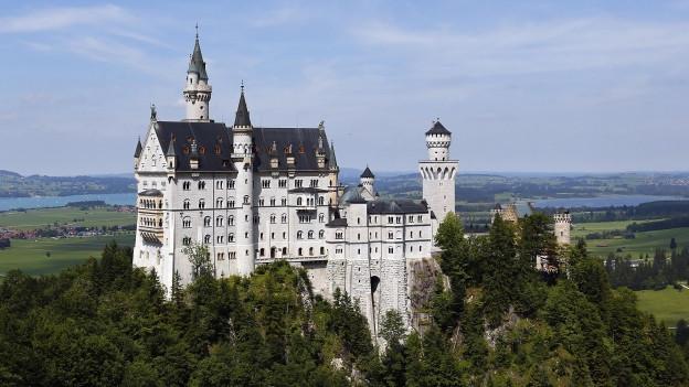 Das Schloss Neuschwanstein in Bayern.