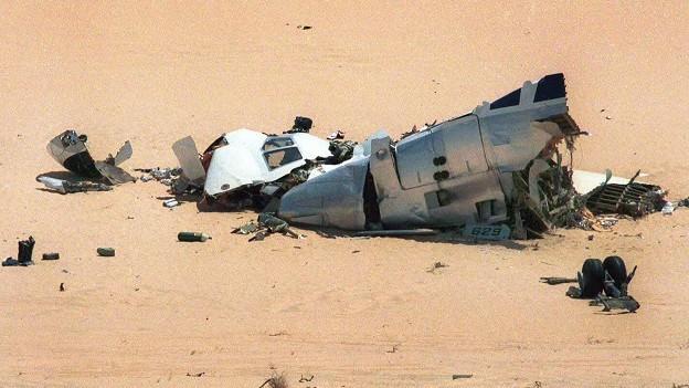 Anschlag auf UTA Flug 772: Trümmer der Maschine in der Ténéré-Wüste.