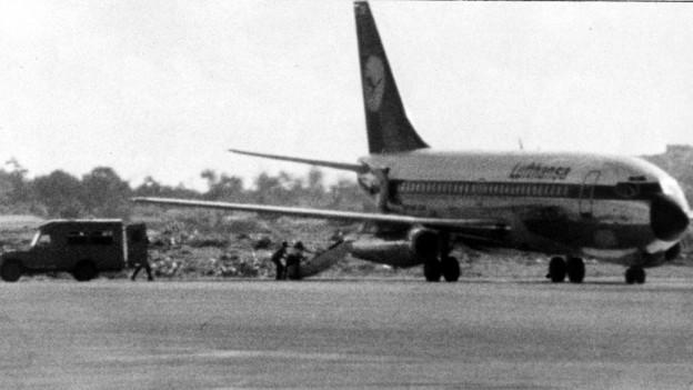 Von der RAF entführte Lufthansa-Maschine