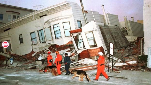 Zerstörung in San Francisco nach dem Erdbeben 1989.