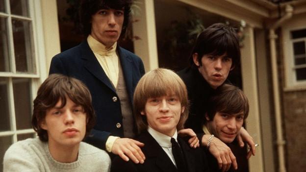 Die Rolling Stones vor ihrer zweiten US-Tournee (1964).