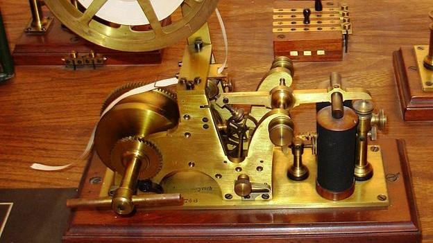 Frühes Modell eines Telegrafen