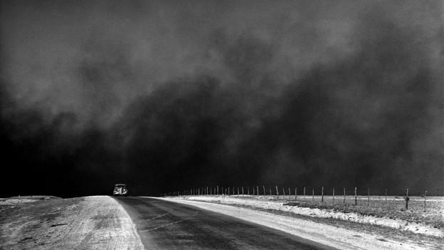 Texas als Teil der Dust Bowl: Der Staub schluckte alles.