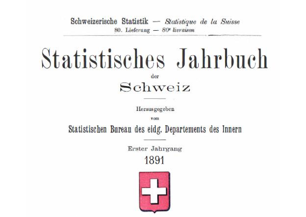 Titelbild des ersten Statistischen Jahrbuchs von 1891