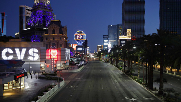 Der Las Vegas Strip ist zu Corona-Zeiten menschenleer.