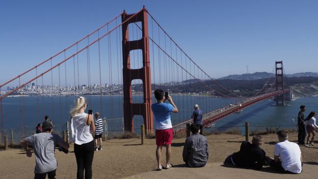 Ein beliebtes Fotosujet: Die Golden Gate Bridge.