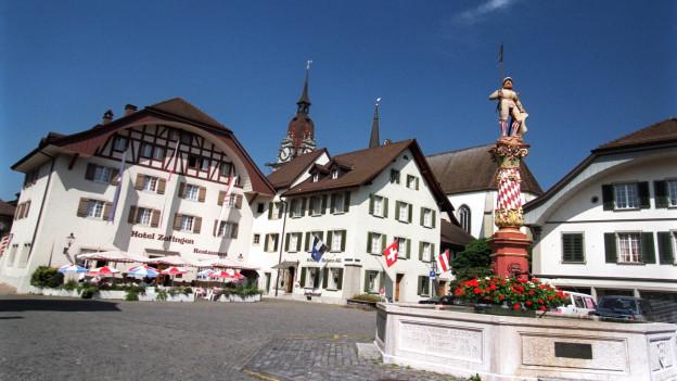 Der Niklaus-Thut-Platz in Zofingen