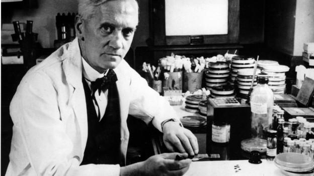 Penicillin-Entdecker in seinem Labor