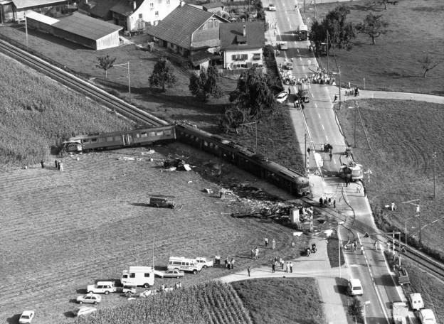 Der Unfallort am 12. September 1982 im zürcherischen Pfäffikon