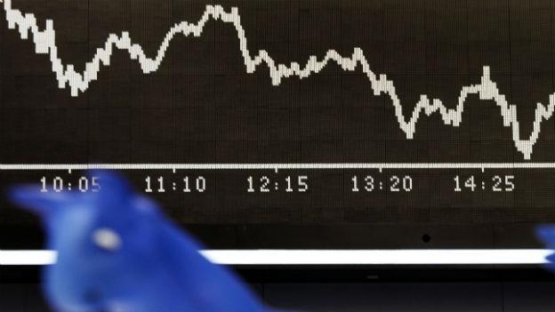 Talfahrt des DAX an der deutschen Börse