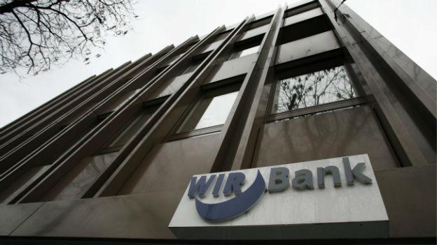 Die WIR-Bank in Basel, Erfinderin des WIR-Zahlungssystems.