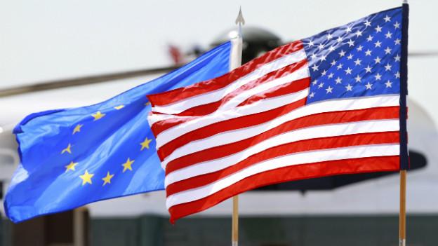 Ein Handelsnachteil für die Schweiz? EU und USA beraten über ein Freihandelsabkommen.
