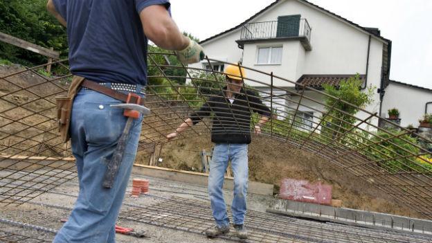 Das Schweizer Baugewerbe floriert.